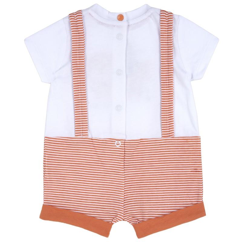 Short cotton baby romper