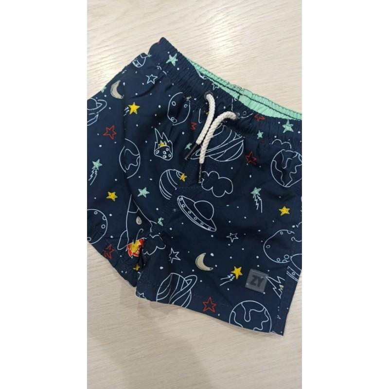 SPACE baby swim trunks