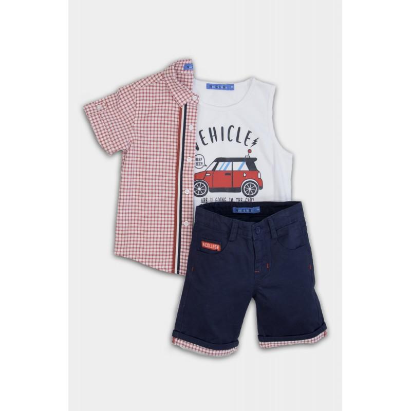 Set 3 pcs with jean shorts
