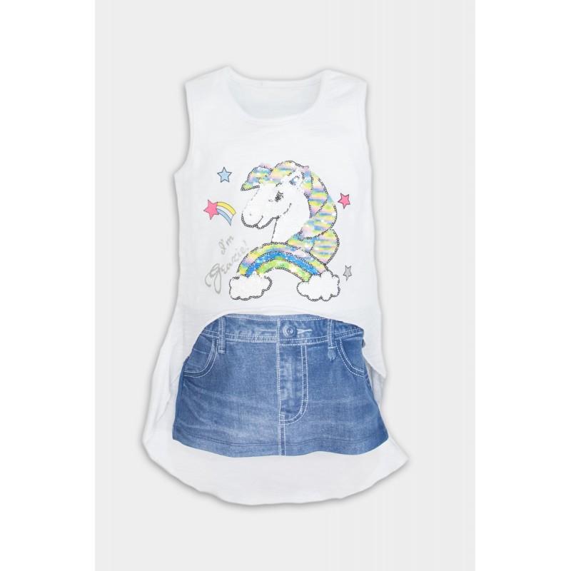 Unicorn cotton dress