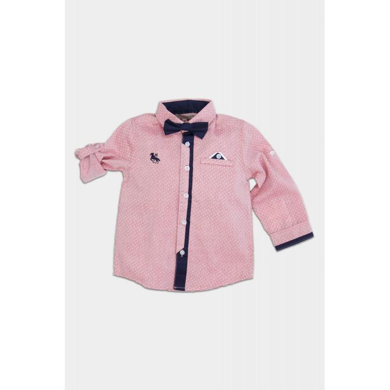 Pink shirt with papillon
