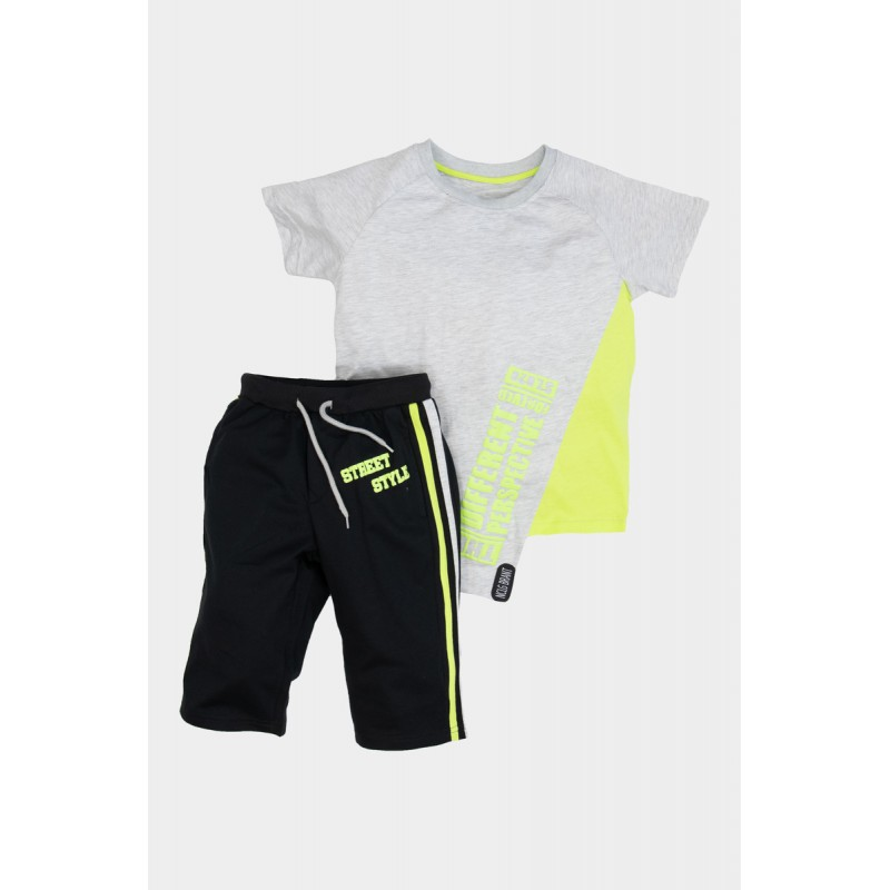 cotton set with long shorts