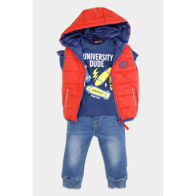 3 pcs set with vest jacket