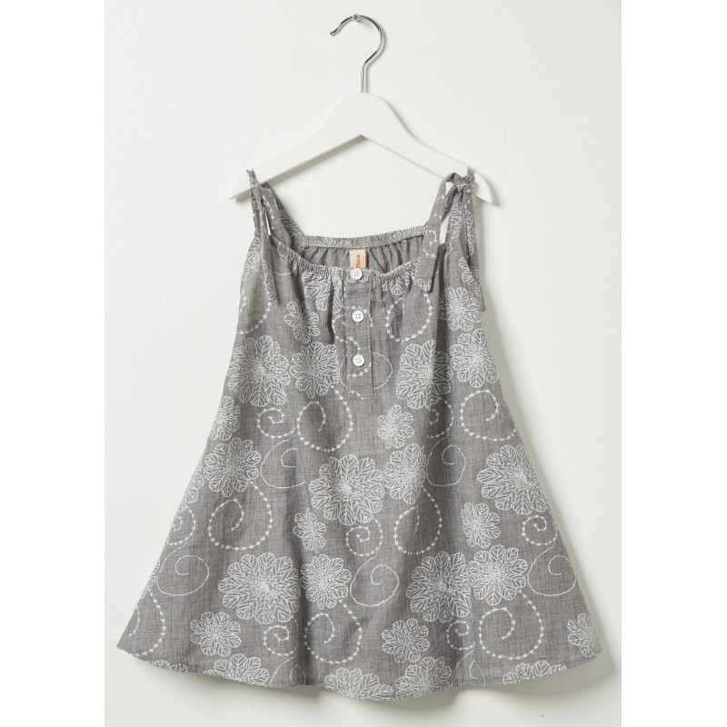 Grey cotton dress 2-5