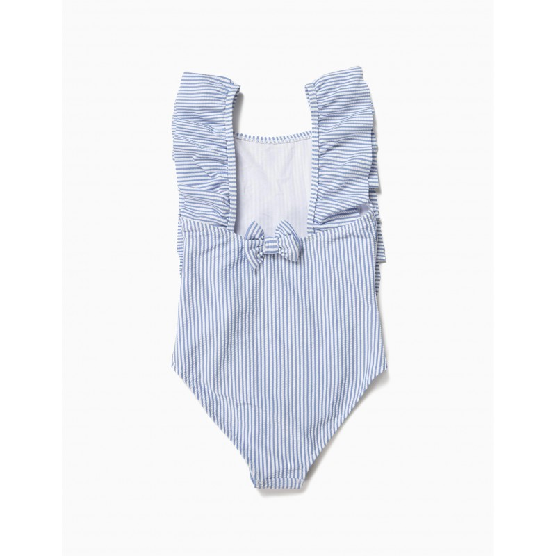 Striped piquet swimsuit