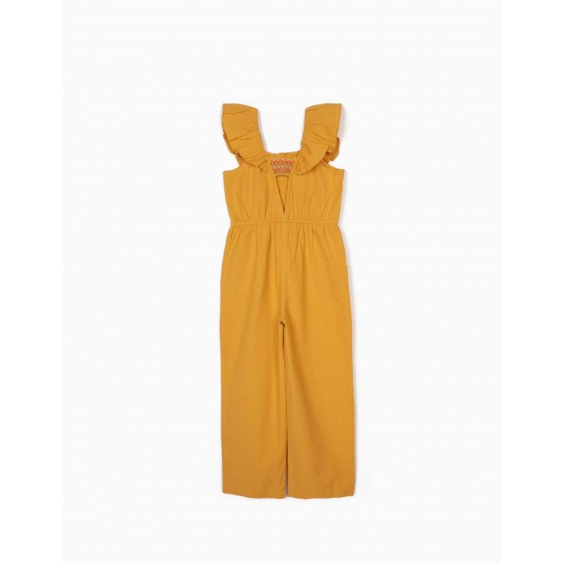 Mustard linen jumpsuit