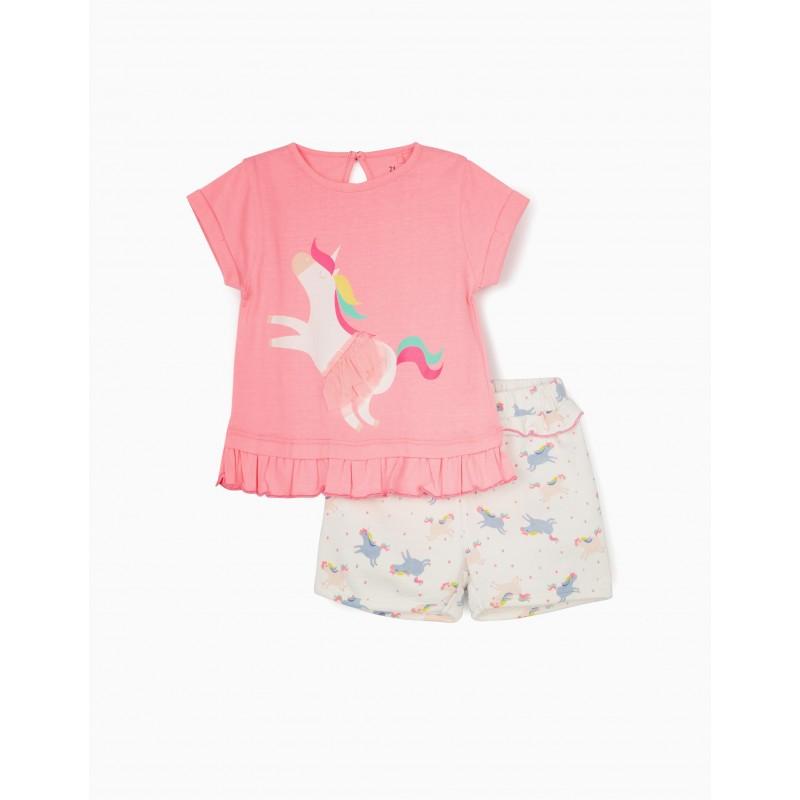 Unicorn summer baby girl set