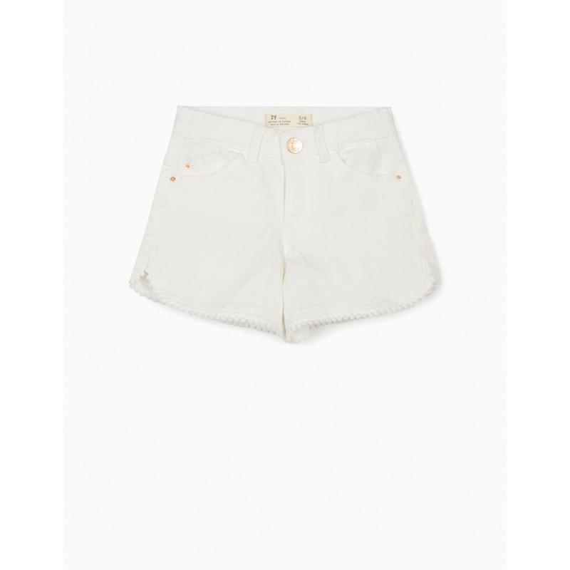 Jean shorts in white